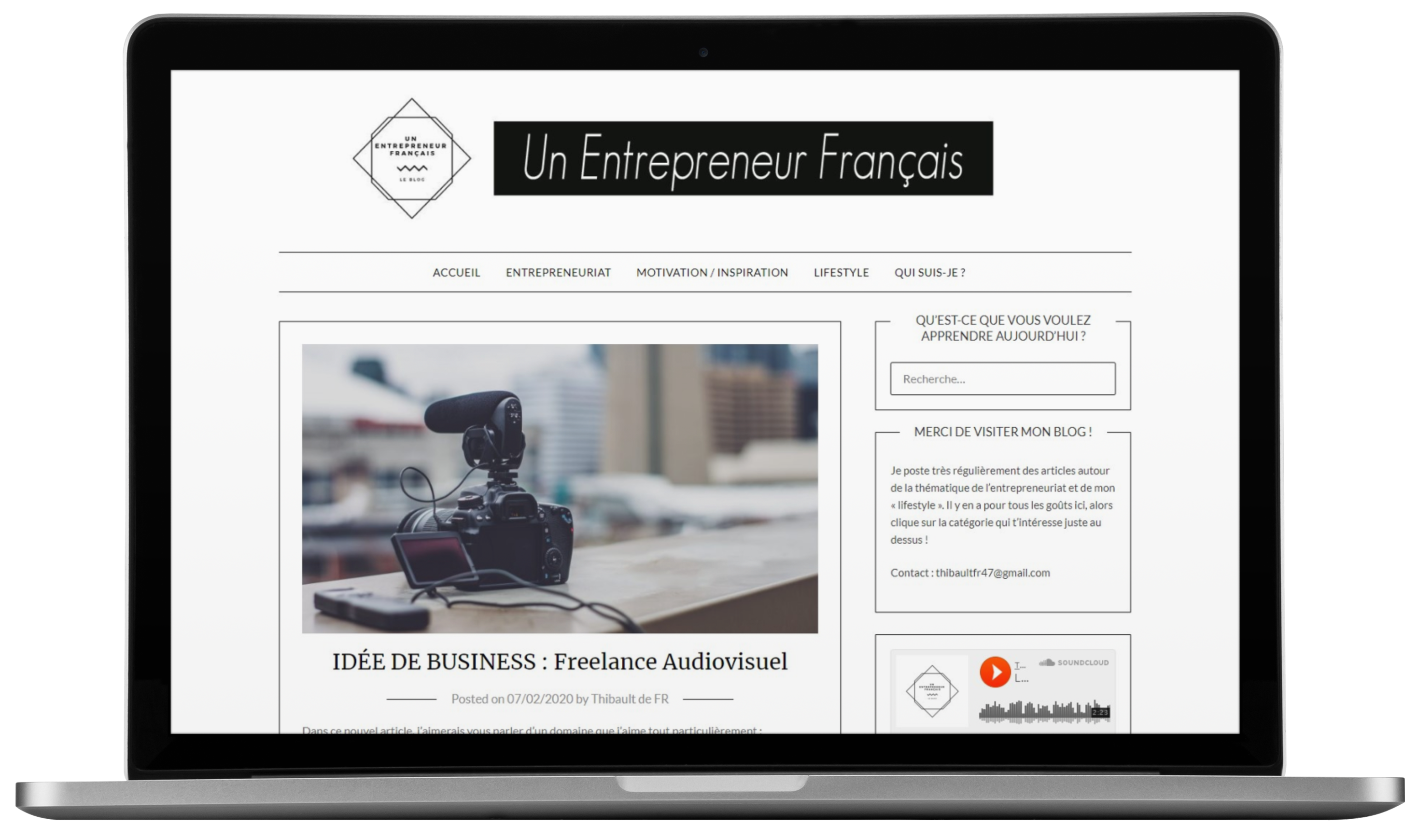 Le blog Un Entrepreneur Français